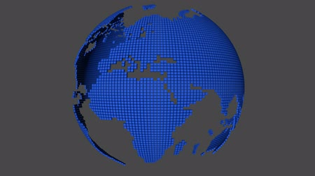 curvature : Dotted world map rotating with alpha channel and also loopable
