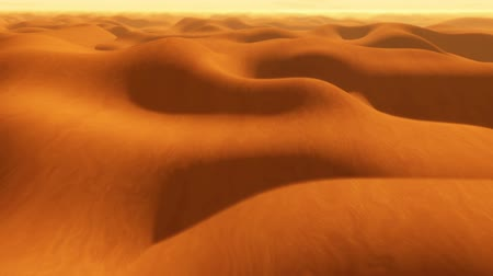дюна : Flight over desert sand dunes, abstract animation