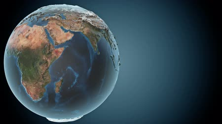 földgolyó : Animated earth with detailed topography of the continents and also loopable