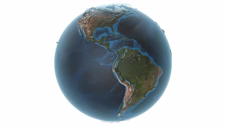 cartografia : Animated earth with detailed topography of the continents w alpha channel and also loopable Vídeos