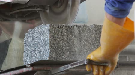 granit : Cutting stone (granite) with water jet cutting machine
