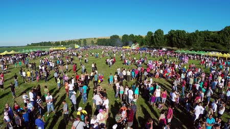 festivais : Luncavita, Romania - 29 June 2014: Linden tree festival, aerial perspective.A festival with music, fun and a lot of nature.