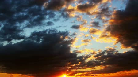 закат : Sunset clouds time lapse