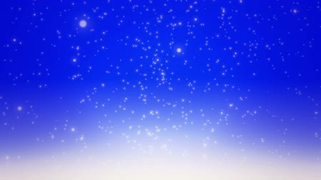 flocos : Snow falling on blue background