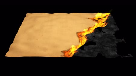 sheet : 4K animation of a burning paper Stock Footage