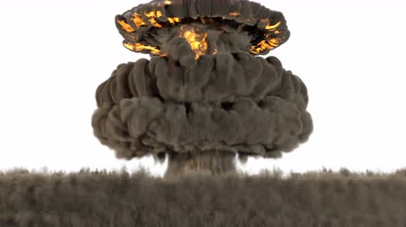 излучение : 4k animation of a nuclear blast with alpha channel, version 2 Стоковые видеозаписи