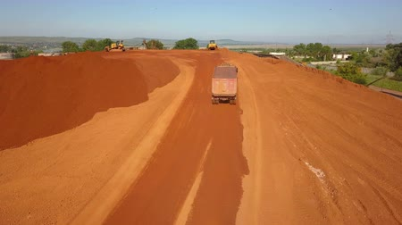 refining : Aerial view of a bauxite deposit Stock Footage