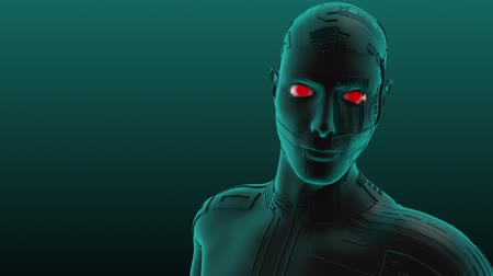 bas : 3D animation of a cyborg male