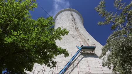 refining : Cooling tower of an alumina refinery plant