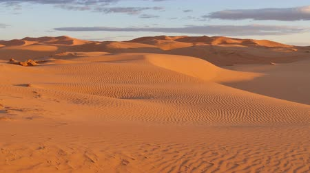 marrocos : Desert sunrise: first rays of light on sand dunes. Erg Chebbi, Morocco, Africa.
