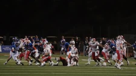 scoren : Football fumble Recovery wint game in slow motion. Stockvideo