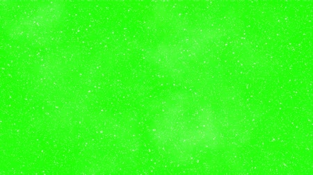 snows : Falling snow green screen Stock Footage