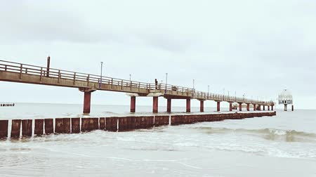 Wooden pier at sea