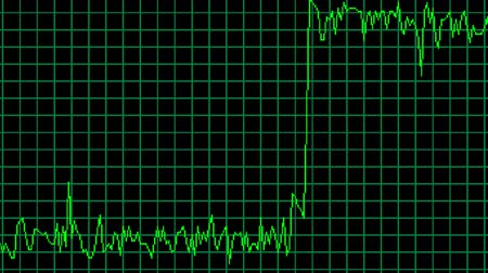 CPU using history chart glitch interference, noise screen animation