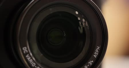 broadcast video : Video Camera Lens Zoom Stock Footage