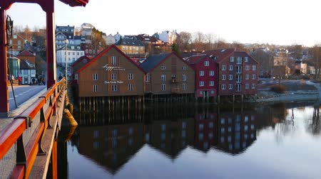 trondheim : Houses on the water, Trondheim, Norway