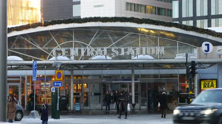 stockholm : The entrance of the Stockholm Central Station at winter day