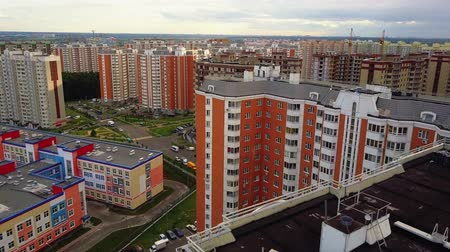 recentemente : Latest high-rise houses in new residential area of Vidnoye town, Moscow oblast