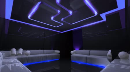 привело : disco led light of Club Room Стоковые видеозаписи