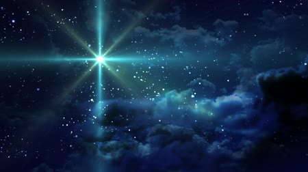 incarnation : Green Starry Night Stock Footage