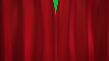 perdeler : red curtains transition Stok Video
