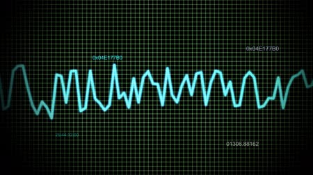 hz : audio wave line maths Stock Footage