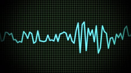 hz : audio wave line Stock Footage