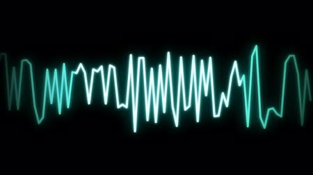 hz : audio wave line black Stock Footage
