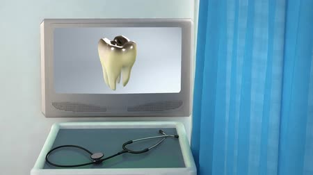 чистый : bad tooth medical screen closeup