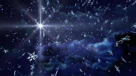 neve : The background of snow flare falling for Christmas theme Vídeos