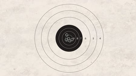 цель : gun shoot to the shooting target concept Стоковые видеозаписи