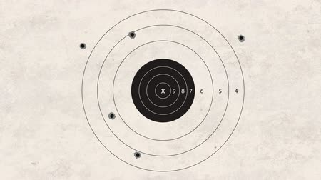 ошибки : gun shoot to the shooting target concept Стоковые видеозаписи