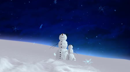 kardan adam : snowman and son blue sky wide