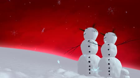 kardan adam : snowmen red sky