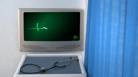 křivky : the graphic of ekg monitor for medical theme