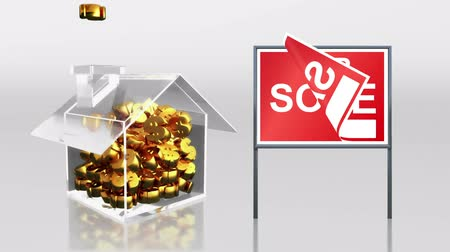 аренда : investment saving at house sale sold sign HD Стоковые видеозаписи