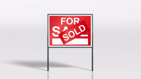 купить : signage stand sold on top of for sale HD.mov Стоковые видеозаписи