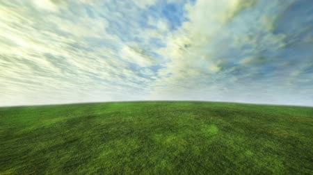 sem nuvens : 3D cloud and grass with green concept Vídeos