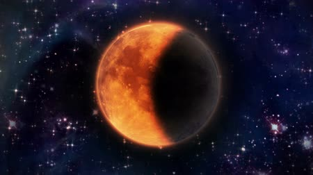 лунный : pumpkin Moon of Total Lunar Eclipse