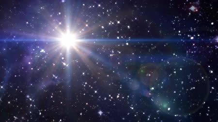 incarnation : the mystery of star glowing in starry night Stock Footage