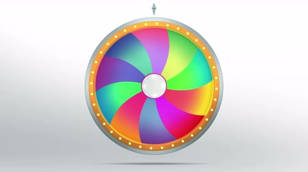 The wheel of fortune or Lucky spin animation was created by Three Dimensional. Video is included the alpha channel and motion loop.  Welcome to use for game and sale promotion concept. Стоковые видеозаписи