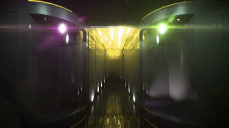Space Corridor led-licht door 3D-weergave