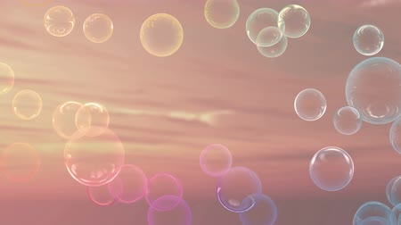 tlen : air bubbles effect up to the sky by 3D rendering Wideo