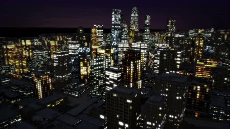 colour design : City night with building present the business concept