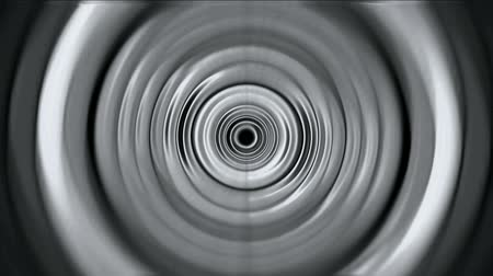 radio wave : 3d gray metal round,ripple,circle computer interface. Stock Footage