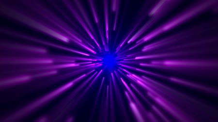light trails : star field,blue and purple ray light in space. Stock Footage