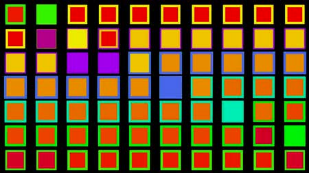 renkli arka plan : Color square matrix Stok Video