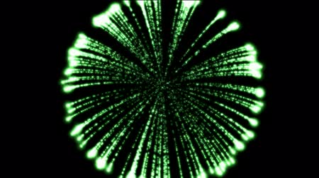 urychlit : green circle fireworks at night,holiday and Wedding