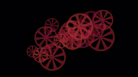 výbava : rotating red gears or wheel loop.orange,films,projectors,wheels,sports,shaft,mystery,science fiction,future,Game,modern,stylish,particle,pattern,symbol,dream,vision,idea,creativity,vj,beautiful,art,decorative,mind,Bacteria,microbes,algae,cells,drugs,