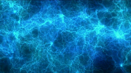 compositing : blue lightning,energy magnetic field. Stock Footage